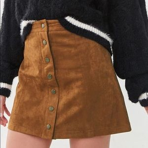 ⚡️ F21 Faux Suede Skirt